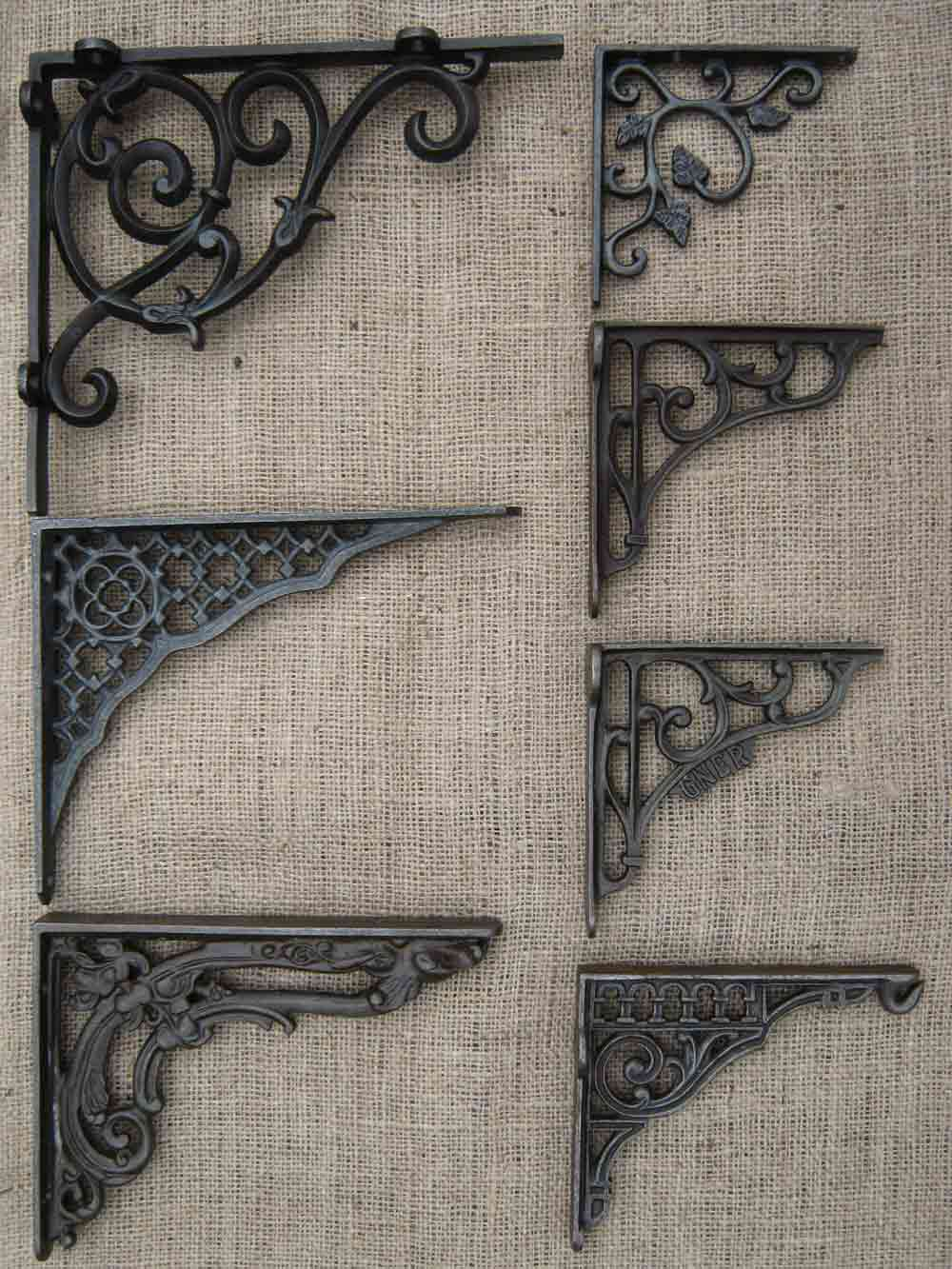 Antique Cast Iron Shelf Brackets